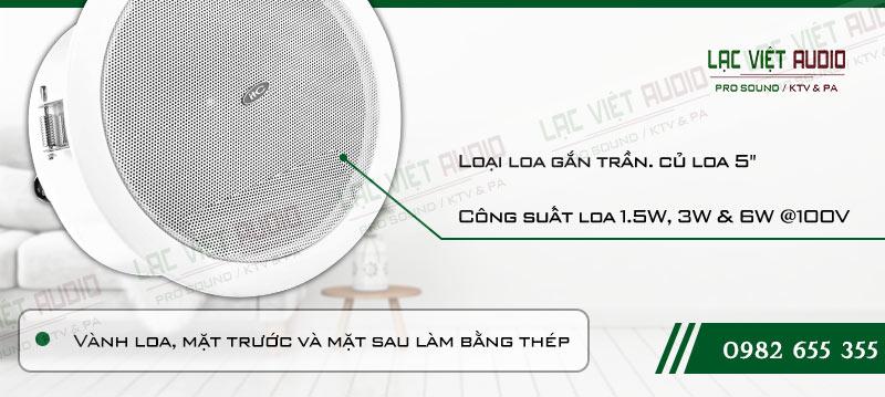 Các đặc điểm nối bật của sản phẩm Loa gắn trần ITC T105M