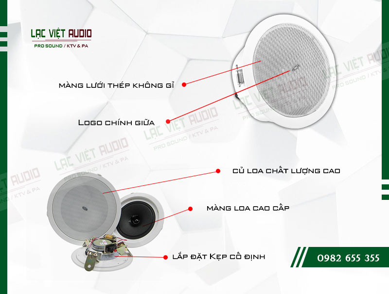 Các đặc điểm nổi bật của sản phẩm Loa gắn trần ITC T106