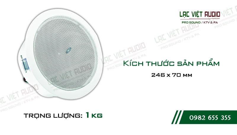 Thiết kế bên ngoài của sản phẩm Loa gắn trần ITC T106