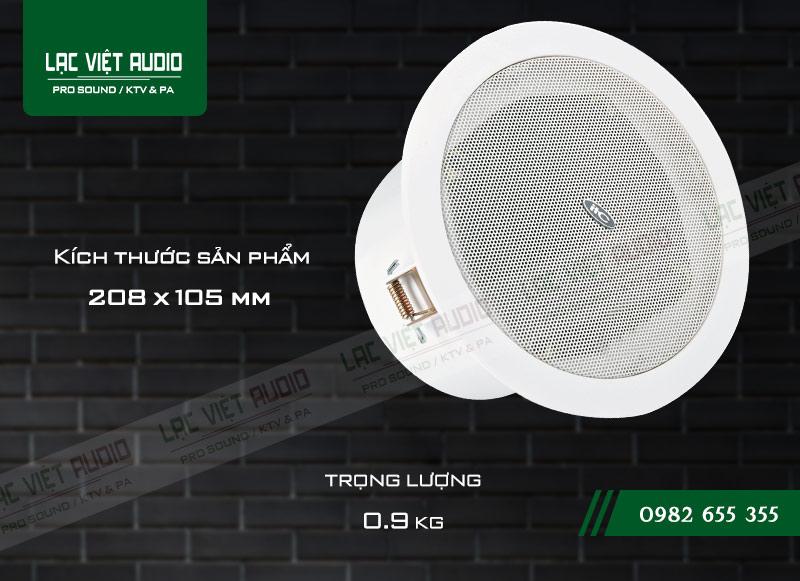 Thiết kế bên ngoài của sản phẩm Loa gắn trần ITC T106F