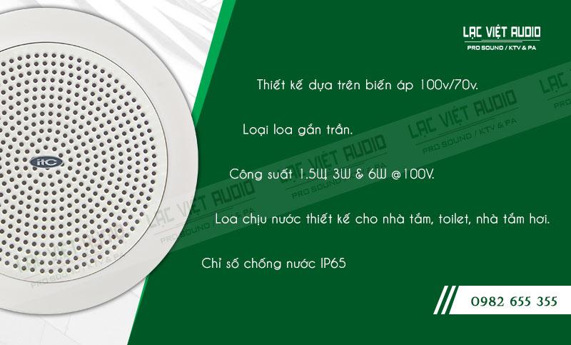 Các đặc điểm nổi bật của sản phẩm Loa gắn trần ITC T106W