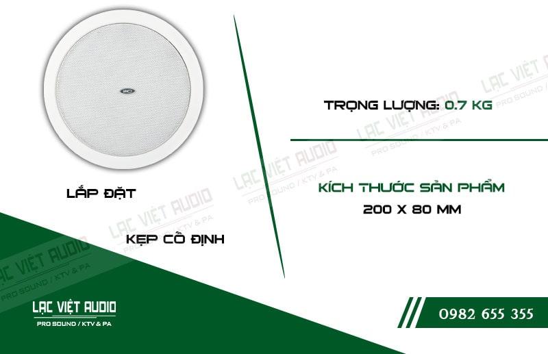 Thiết kế bên ngoài của sản phẩm Loa gắn trần ITC T106W