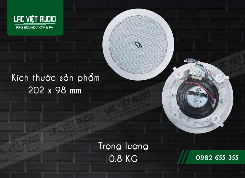 Thiết kế bên ngoài sang trọng và hiện đại Loa gắn trần ITC T205A