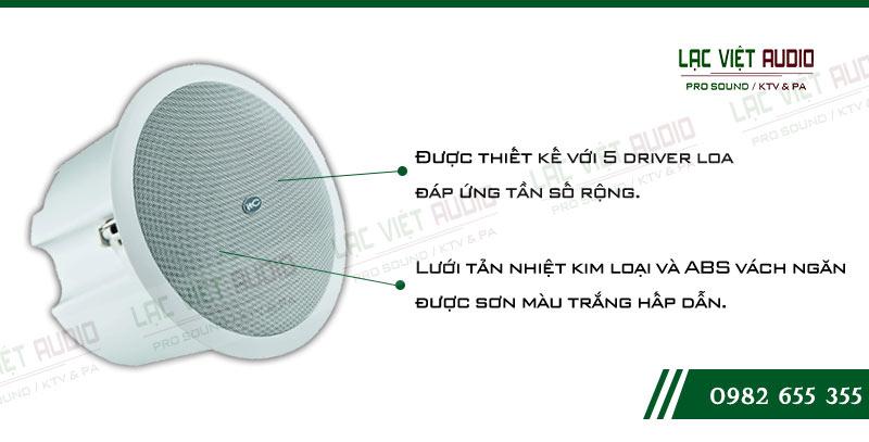 Các đặc điểm nổi bật về tính năng của sản phẩm Loa gắn trần ITC T206