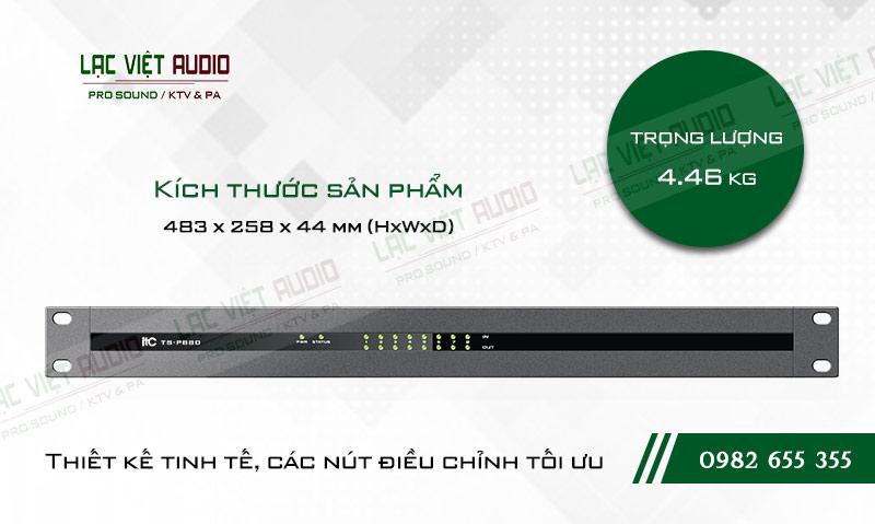 Thiết kế bên ngoài của sản phẩm Âm ly kèm loa ITC TS P880