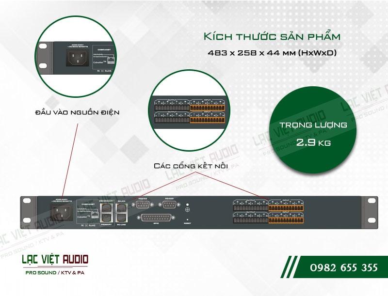 Thiết kế bên ngoài của sản phẩm Âm ly kèm loa ITC TS P880C