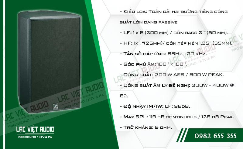Các đặc điểm nổi bật của sản phẩm Loa Agasound AF 8H
