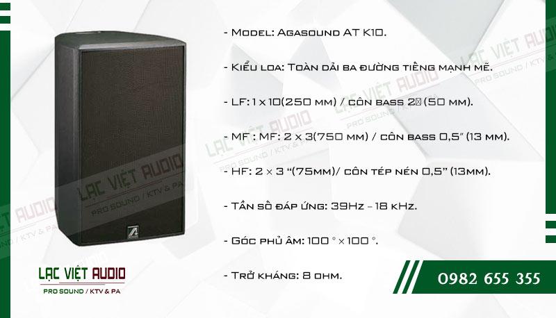 Các đặc điểm nổi bật của sản phẩm Loa Agasound AT K10