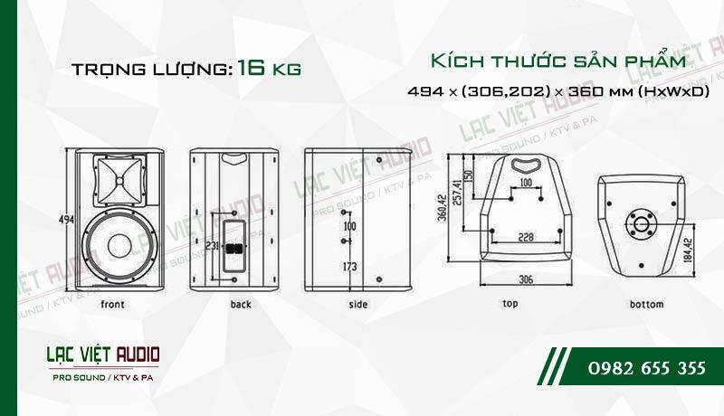 Thiết kế bên ngoài của sản phẩm Loa Agasound AX 110+