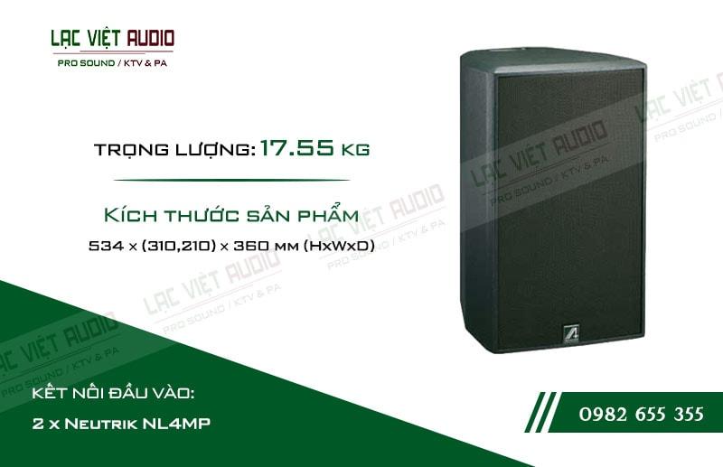 Thiết kế bên ngoài của sản phẩm Loa Agasound AX 110F+