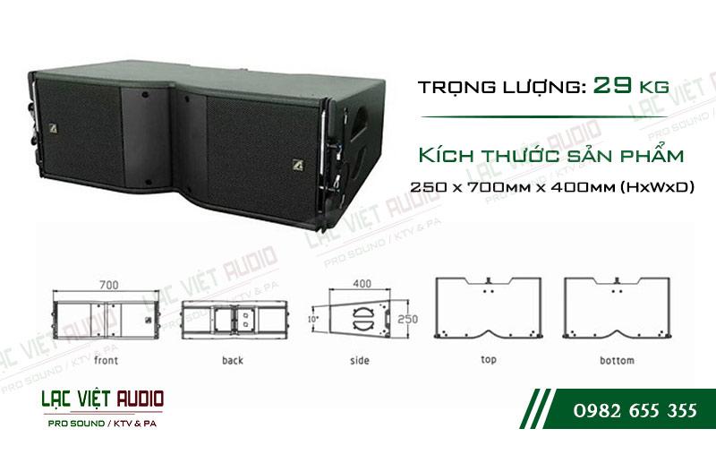 Thiết kế bên ngoài của sản phẩm Loa Array Agasound Aline 208