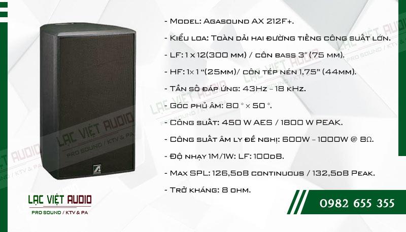 Tính năng nổi bật của sản phẩm Loa karaoke Agasound AX 212F+