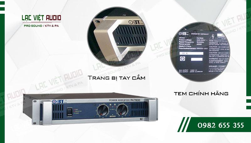 Thiết kế bên ngoài của sản phẩm Cục đẩy OBT PA7800