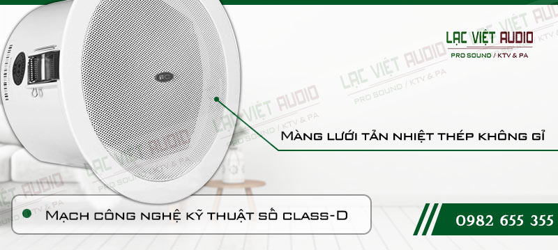 Các đặc điểm nổi bật của sản phẩm Loa gắn trần ITC T105FP