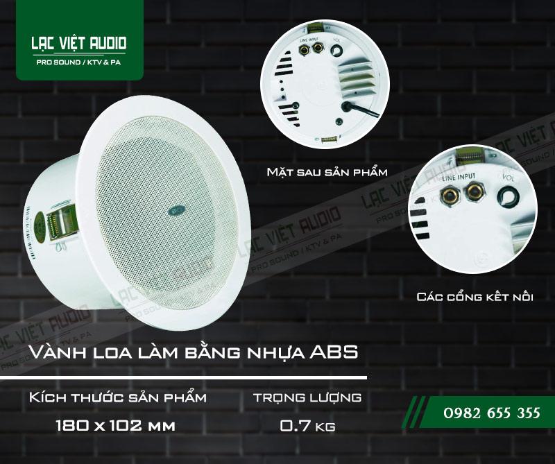 Thiết kế bên ngoài của sản phẩm Loa gắn trần ITC T105FP