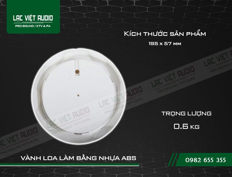 Thiết kế bên ngoài của sản phẩm Loa gắn trần ITC T105H