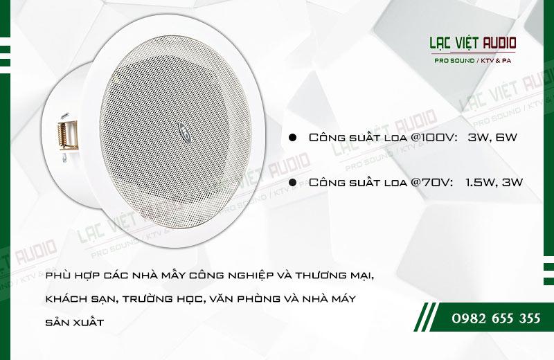Các đặc điểm nổi bật của sản phẩm Loa gắn trần ITC T105L