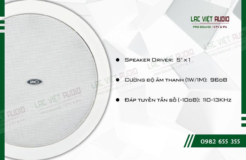 Thiết kế bên ngoài của sản phẩm Loa gắn trần ITC T105L