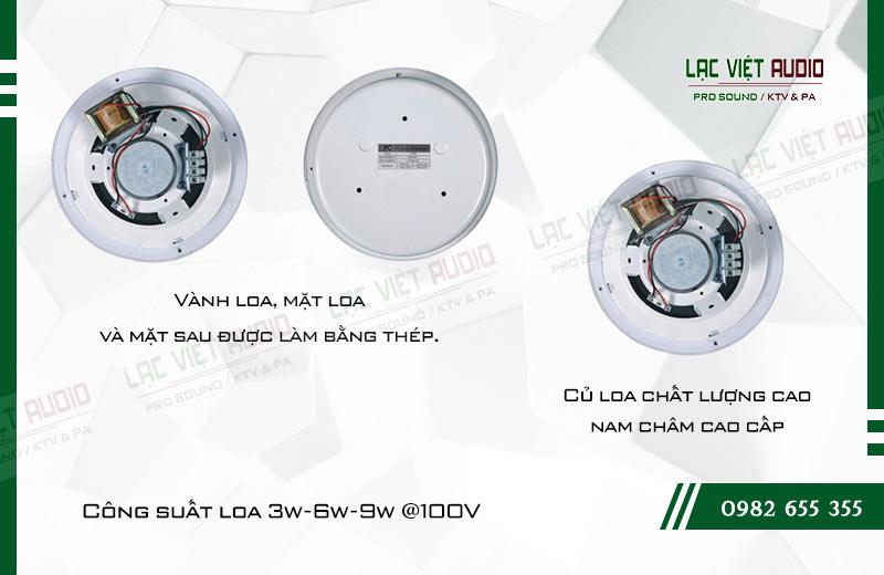 Các đặc điểm nối bật của sản phẩm Loa gắn trần T 105S