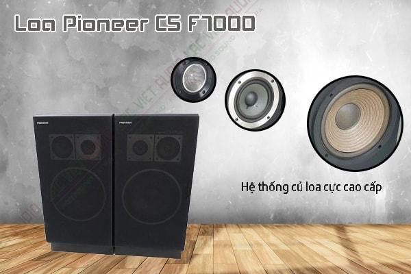 Các tính năng nổi bật của sản phẩm Loa Pioneer CS F7000 Nhật bãi