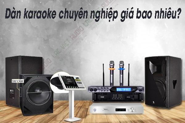 Dàn karaoke chuyên nghiệp giá bao nhiêu