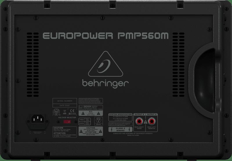 Mặt sau Mixer Behringer PMP 580S