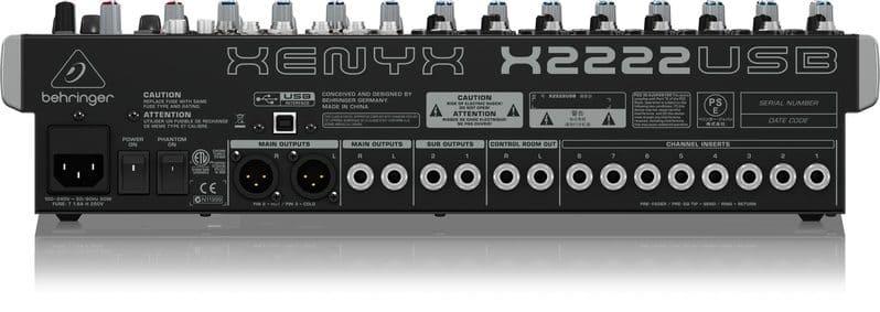 Các cổng kết nối của thiết bị mixer
