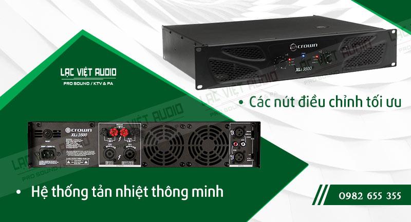 Một số đặc điểm nổi bật của sản phẩm Cục đẩy công suất Crown XLI 3500