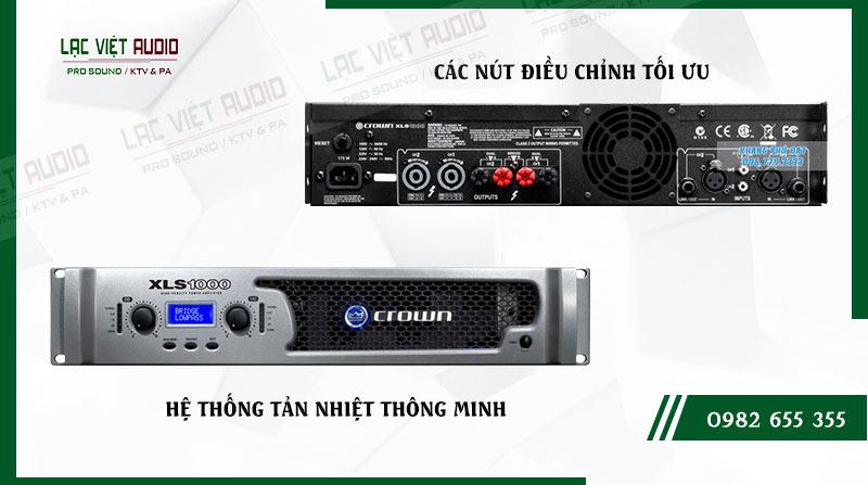 Một số đặc điểm nổi bật của sản phẩm Cục đẩy công suất Crown XLS 1000