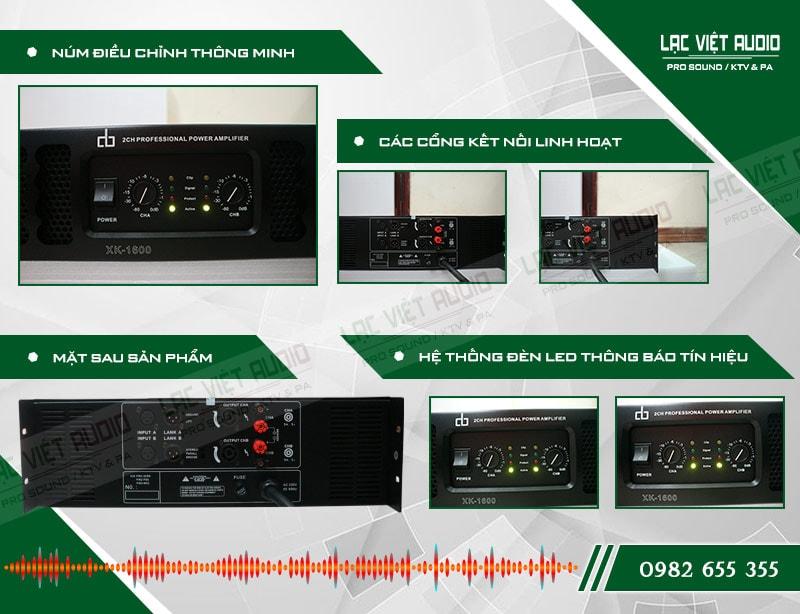 Thiết kế bên ngoài của sản phẩm Cục đẩy công suất DB HK 1600