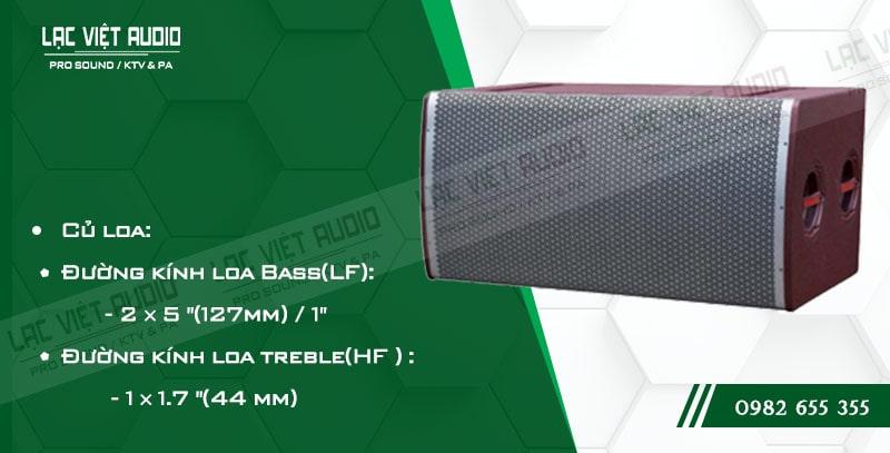 Các đặc điểm nổi bật của sản phẩm Loa array soundking LE205