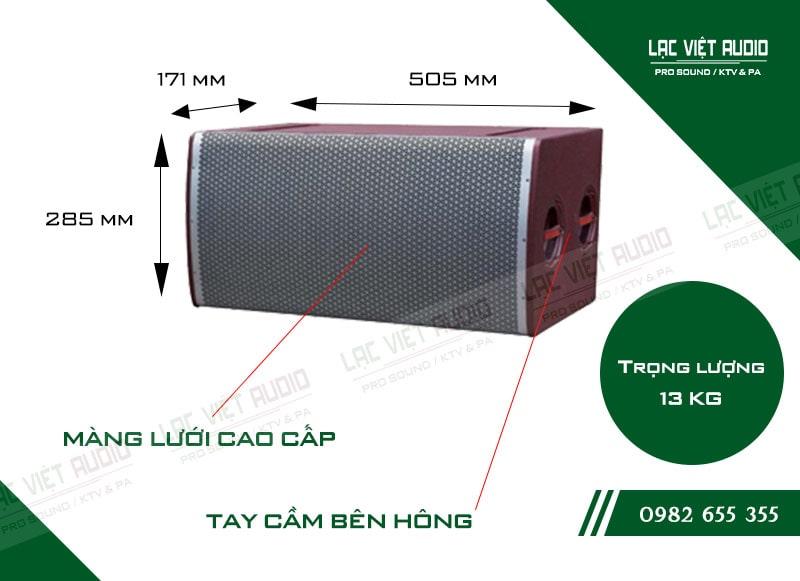 Thiết kế bên ngoài của sản phẩm Loa array soundking LE205