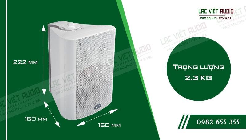 Thiết kế bên ngoài của sản phẩm Loa gắn tường ITC T774PW