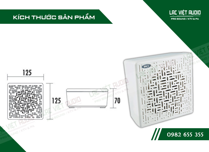 Các thiết kế bên ngoài của sản phẩm Loa gắn tường ITC T601C