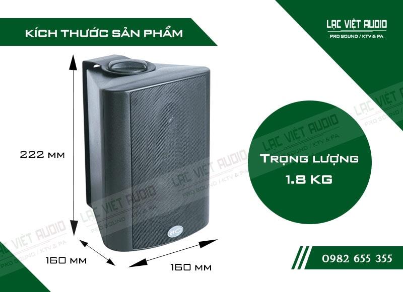 Thiết kế bên ngoài hiện đại và sang trọng của thiết bị Loa gắn tường ITC T774