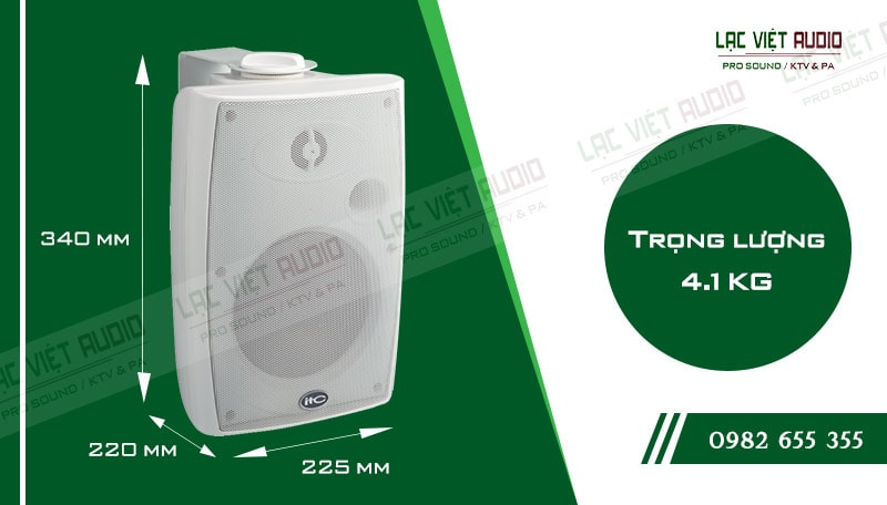 Thiết kế bên ngoài của sản phẩm Loa gắn tường ITC T776HW