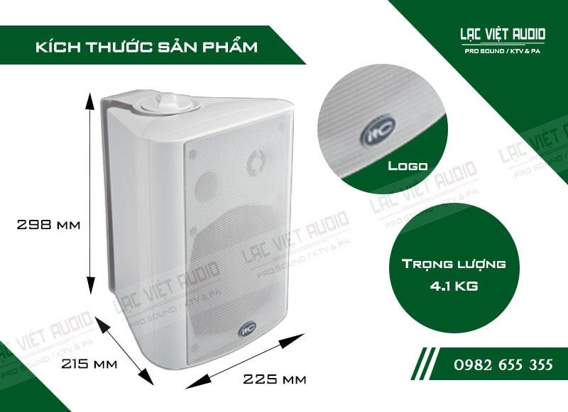 Thiết kế bên ngoài của sản phẩm Loa gắn tường ITC T776PW