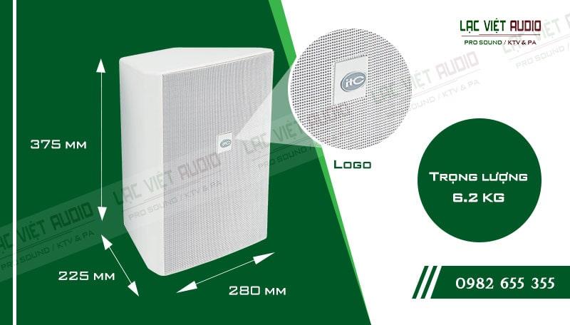 Thiết kế bên ngoài của sản phẩm Loa gắn tường ITC T778PW