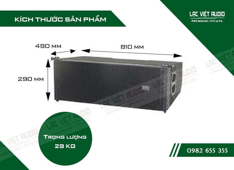 Thiết kế bên ngoài của sản phẩm Loa array soundking G210