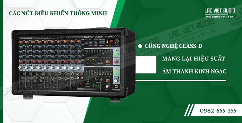 Các đặc điểm nổi bật của sản phẩm Mixer Behringer PMP 2000D