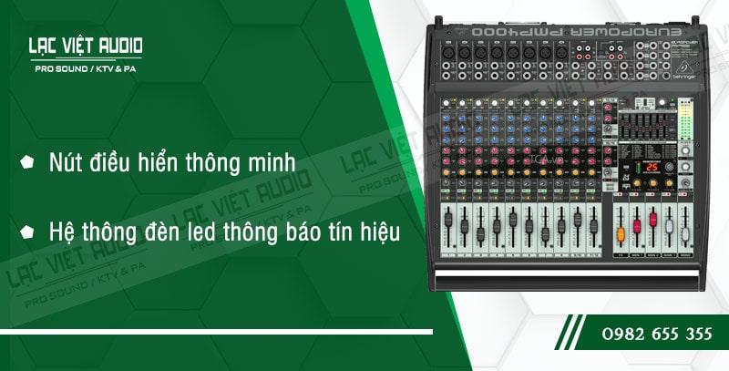 Các đặc điểm nổi bật của sản phẩm Mixer Behringer PMP 4000