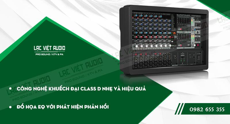 Các đặc điểm nổi bật của sản phẩm Mixer Behringer PMP 580S