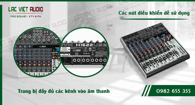 Các đặc điểm độc đáo của thiết bị Mixer Behringer XENYX X1622USB
