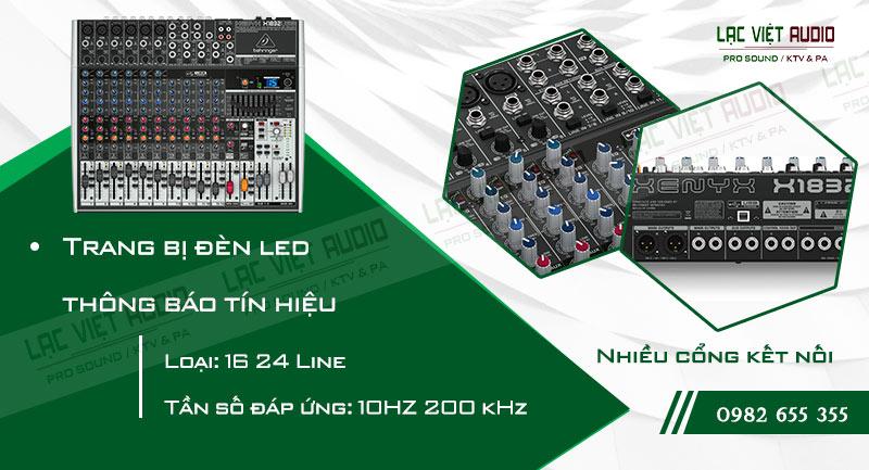 Các đặc điểm độc đáo của thiết bị Mixer Behringer XENYX X1832USB
