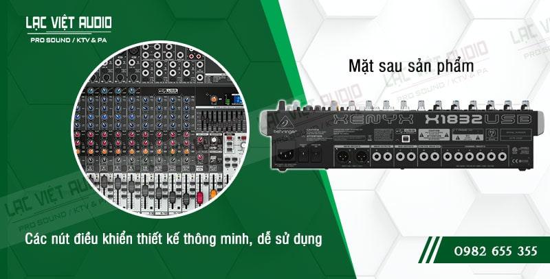 Thiết kế bên ngoài của sản phẩm Mixer Behringer XENYX X1832USB