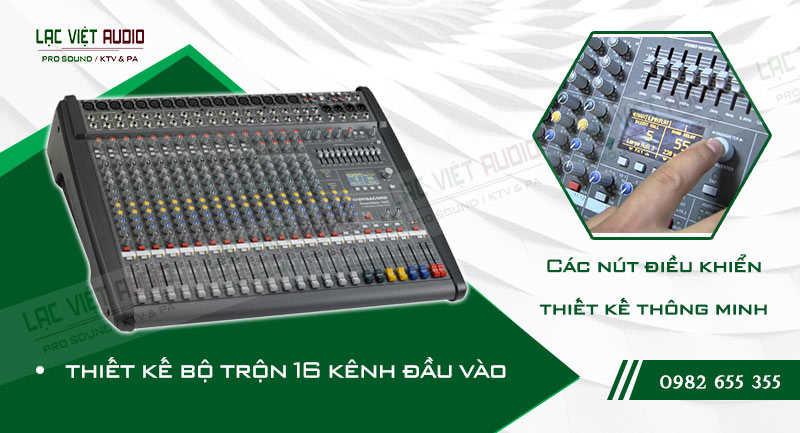 Các đặc điểm nổi bật của sản phẩm Mixer Dynacord PowerMate PM 1600