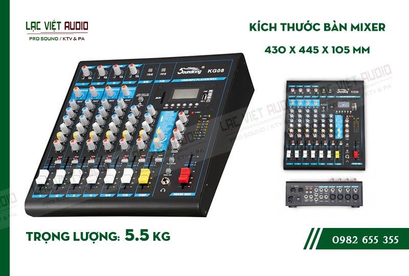 Thiết kế bên ngoài của sản phẩm Mixer Soundking KG08