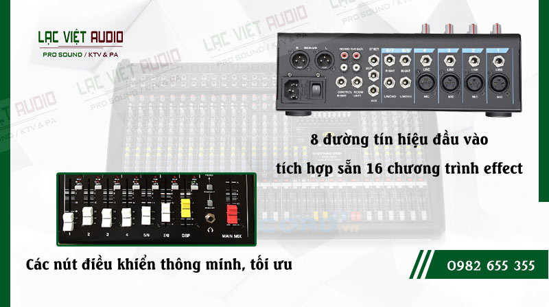 Các đặc điểm nổi bật của sản phẩm Mixer Soundking MG08