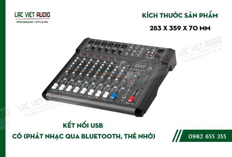 Thiết kế bên ngoài của sản phẩm Mixer Soundking MG08