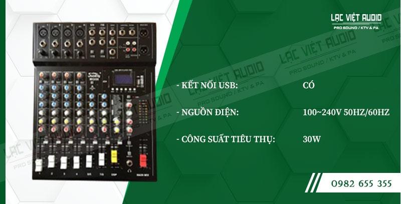 Các đặc điểm nổi bật của sản phẩm Mixer Soundking MG12